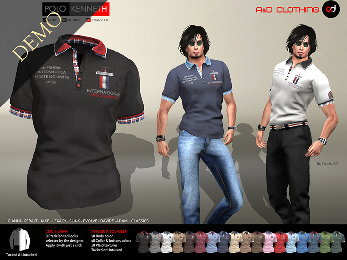 A&D Clothing - Polo -Kenneth-  DEMOs