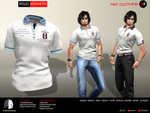 A&D Clothing - Polo -Kenneth- Ivory