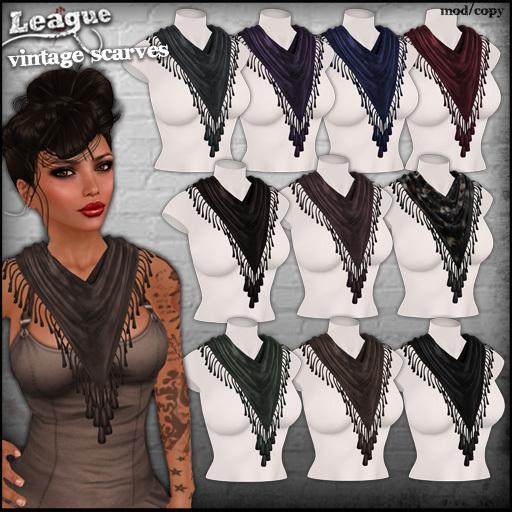 *League* Vintage Scarves -Classics Fatpack