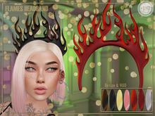 #187# Flames Headband