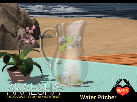 Bento Water Pitcher (Glass) - Gives glasses of water
