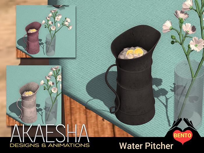 Water Pitcher drink dispenser (Metal) - Serves unlimited drinks!