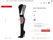 Veilance: Racer Thigh High Boots (DEMO) Add to Unpack