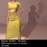 Slink ~ Skylar Outfit ~ Stripes Yellow