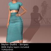 Slink ~ Skylar Outfit ~ Stripes Turquoise