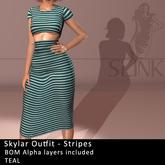 Slink ~ Skylar Outfit ~ Stripes Teal