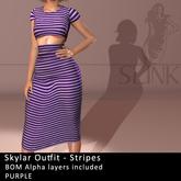 Slink ~ Skylar Outfit ~ Stripes Purple