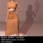 Slink ~ Skylar Outfit ~ Stripes Orange