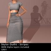 Slink ~ Skylar Outfit ~ Stripes Grey