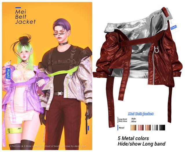 MIWAS / Mei Belt jacket #Red