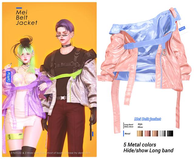 MIWAS / Mei Belt jacket #Pink