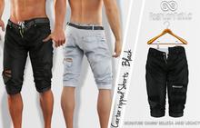 FashionNatic - Carter Ripped Shorts Black - Signature Gianni, Belleza Jake, Legacy