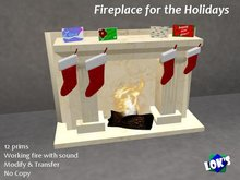 *Lok's* Fireplace for the Holidays - Creamy Marble