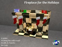 Fireplace for the Holidays - Marble Tile - Winterfest - Fireplace