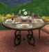 Bistro Bronze and Glass Patio Table v4 MESH COPY