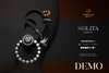 Romazin - Earrings <Solita>, DEMO