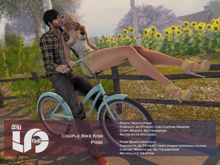 ACT5-566-Couple Bike Kiss Pose BOXED