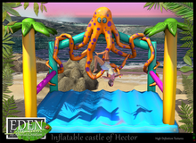 (*.*) Inflatable castle of Hector - wear to unpack