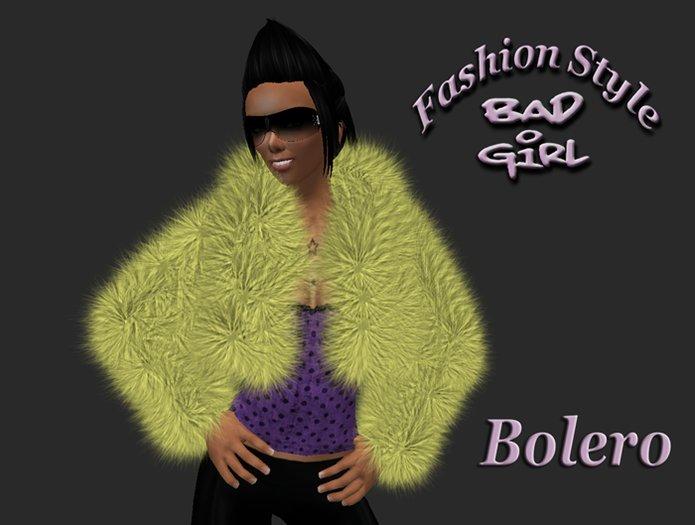 Bad Girl 1L$ Fur Bolero hellgelb/light yellow