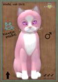 KittyCatS Box - Chateau Cat - Pink & White No. 1 - Purple Rain