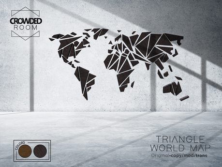 Crowded Room - Triangle World Map