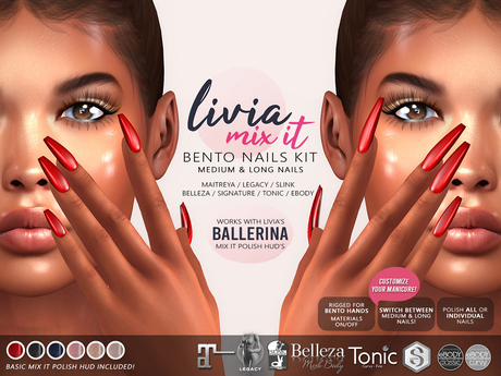 LIVIA Mix It Bento Nails [Ballerina] *Sale