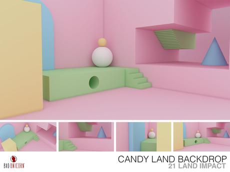 Candy Land Backdrop