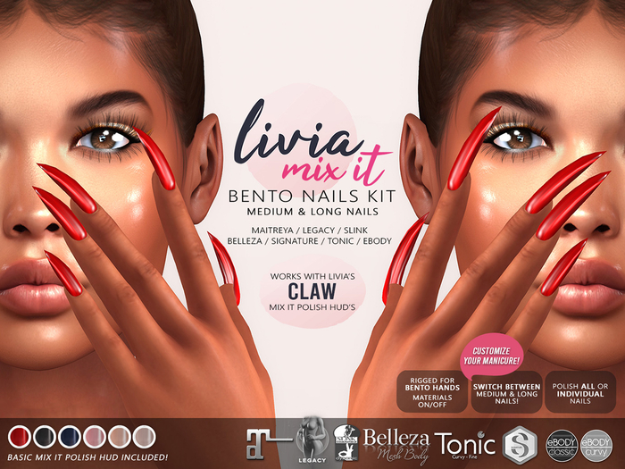 LIVIA // Mix It Bento Nails [Claw]