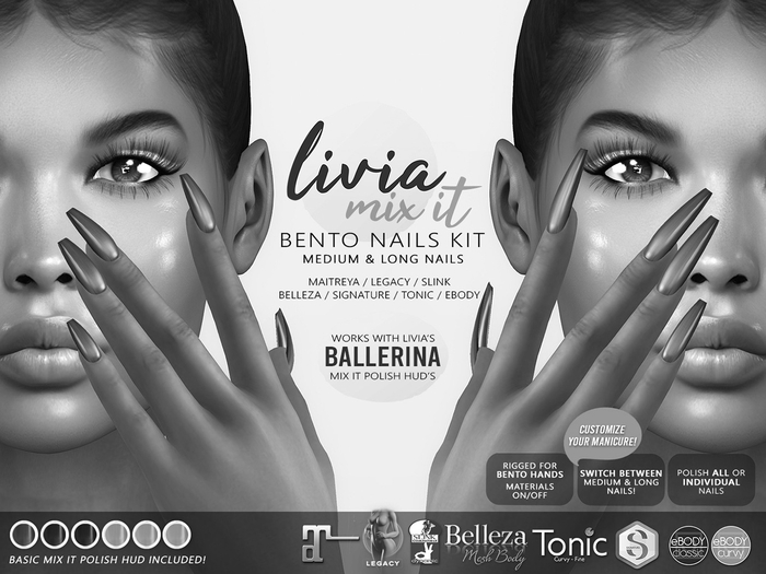 LIVIA Mix It Ballerina Bento Nails DEMOS