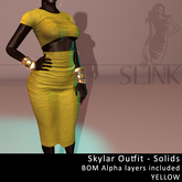 Slink ~ Skylar Outfit ~ Solid Yellow