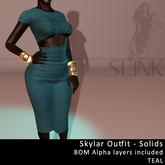 Slink ~ Skylar Outfit ~ Solid Teal