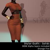 Slink ~ Skylar Outfit ~ Solid Orange Fire