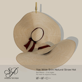 Snowpaws - Yae Natural Straw Hat - Red
