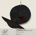 Snowpaws - Yae Black Straw Hat - Red