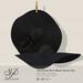 Snowpaws - Yae Black Straw Hat - Black