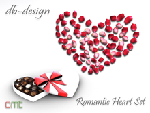 ::db:: Mesh Rose Petals with Chocolate Box WhiteRed