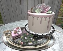 CJ Rose Cake + Petit Fours Stand - Dispenser