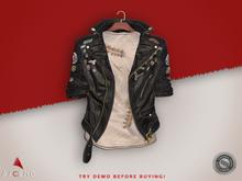 //Ascend// Striker Denim Jacket - Black