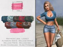 [COSMOS] Danika Crop Top Jersey / 9 Colors Fatpack