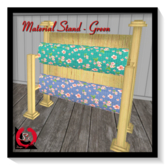 SK DESIGNS - MATERIAL STAND {GREEN}