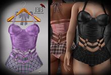 (*<*) 1313 Larkin Dress - Lilac Plaid