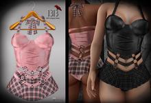 (*<*) 1313 Larkin Dress - Bubble Plaid