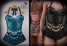 (*<*) 1313 Larkin Dress - Blue Plaid