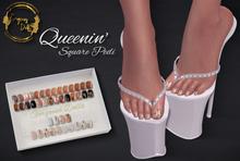 ~GD~Queenin'(Square Pedi) - Maitreya Mesh Feet