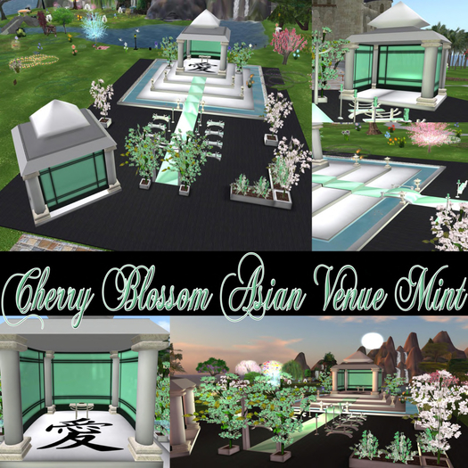 -70% ASIAN GREEN MINT WEDDING VENUE with animations poses and decorations Save 500L$ in Xstreet NOW!