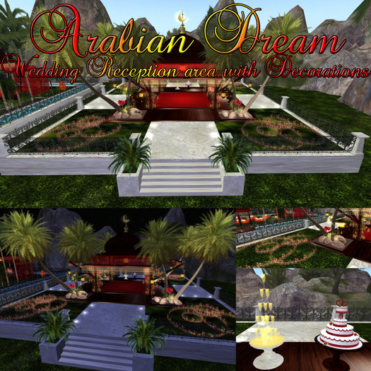 Princess VIP Series ARABIAN DREAM WEDDING RECEPTION with animations poses and decorations special Effects