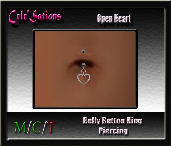 [CS] Belly Button Ring : Belly Piercing ~ Open Heart