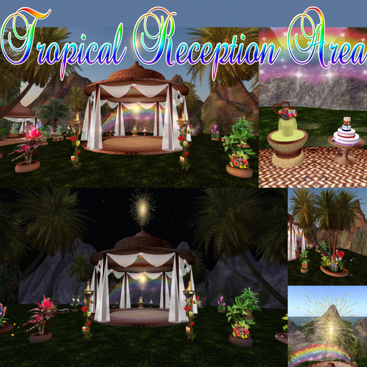 -70% VIP Selection TROPICAL WEDDING RECEPTION with animations poses and decorations special Effects