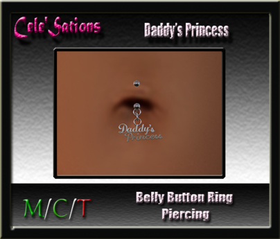 [CS] Belly Button Ring : Belly Piercing ~ Daddy's Princess