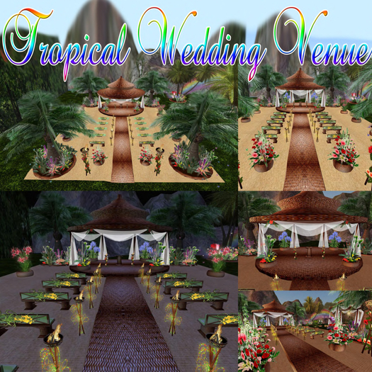 -70% VIP selection TROPICAL WEDDING VENUE with animations poses and decorations Fireworks effect